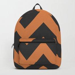 Orange and Black Halloween Pattern Backpack