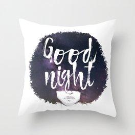 Afro night Throw Pillow