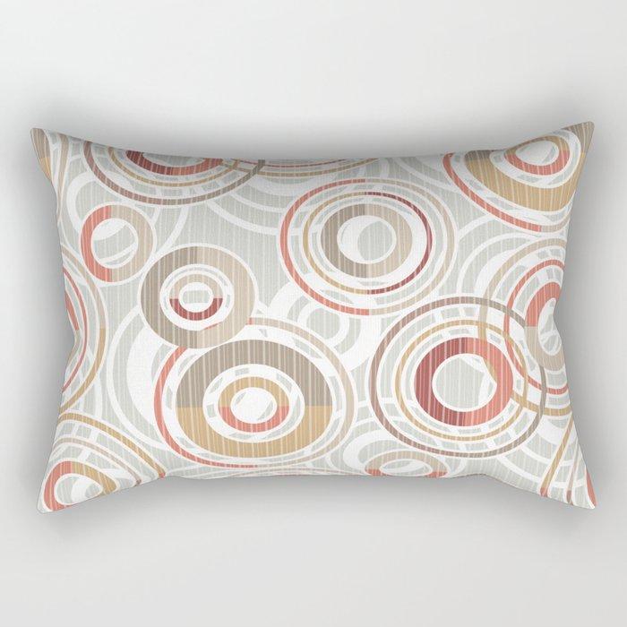 Abstraction.Circles and rings. Rectangular Pillow