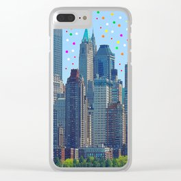 New York Meteor Shower Clear iPhone Case