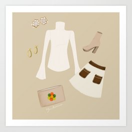 Retro Outfit Art Print