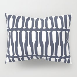 Boat Oars in Navy Blue Pillow Sham
