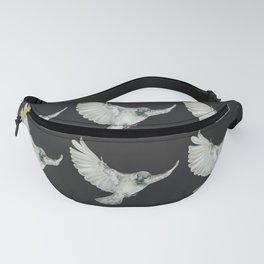 Pattern: Sparrow on grey-black Fanny Pack