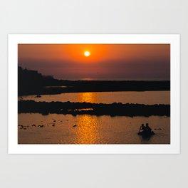 Mumbai Sun Art Print
