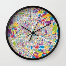 Mendoza Argentina City Street Map Wall Clock