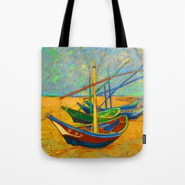 Fishing Boats by VVG Tote Bag