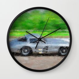 300 SLR Uhlenhaut Coupe Wall Clock