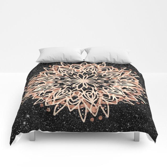 Metallic Mandala Comforters