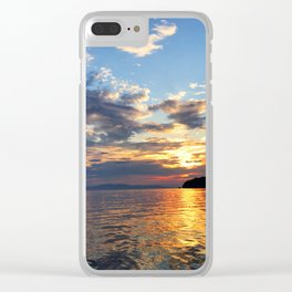 Sunset Over Lake Champlain Clear iPhone Case