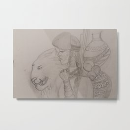 Sketches of she & wild Metal Print