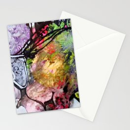 Afloat III - Mixed Media Acrylic Abstract Modern Art, 2015 Stationery Cards