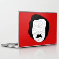 edgar allan poe Laptop & iPad Skins featuring Edgar Allan Poe: Insanity by Kelly Irene