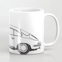 porsche Mugs featuring porsche 356 by kartalpaf