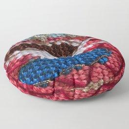rain in my tea, rain in my coffee, tapestry, weaving, knitting, tea, coffee, tea cup, yarn, rain, Floor Pillow