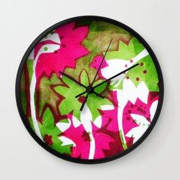 Watermelon Pink Wall Clock