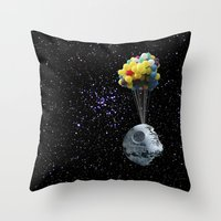 death star Throw Pillows featuring Death Star by J Styles Designs