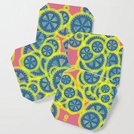 Random blue gearwheels Coaster