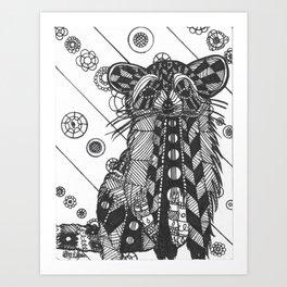 Raccon Art Print
