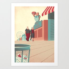 Day Trippers #8 - Promenade Art Print