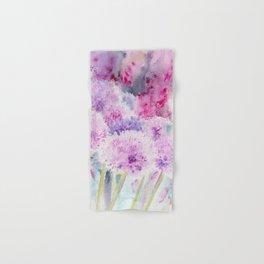 Alliums and Foxgloves Hand & Bath Towel