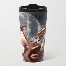 Mystical Dragon and Moon Fantasy Design  Travel Mug
