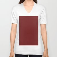 persian V-neck T-shirts featuring Persian plum by List of colors