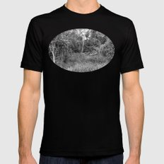 The Forest in Monochrome Mens Fitted Tee Black MEDIUM