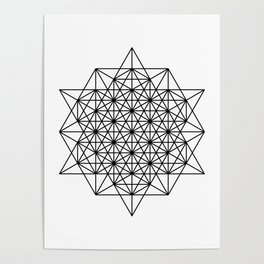 Star tetrahedron, sacred geometry, void theory Poster
