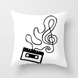 Clef Tape Throw Pillow