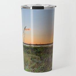 Beautiful Florida Beach Sunset Over Matanzas Inlet Travel Mug