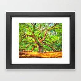Angel Oak Tree - Charleston South Carolina Area Landmark Framed Art Print