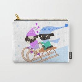 Pug Buddies Sledding Carry-All Pouch