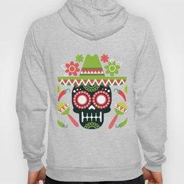 Mexican Cinco De Mayo Skull Party Hoody