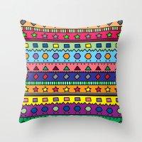 doodle Throw Pillows featuring Doodle by Kat Mun