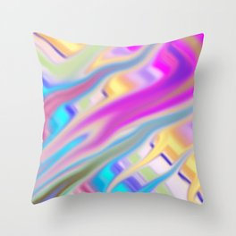 Color Smear Throw Pillow