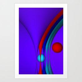 violet predominating Kunstdrucke