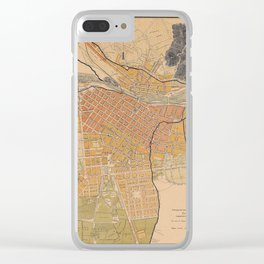 Map Of Lima 1904 Clear iPhone Case