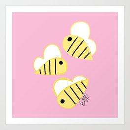 Buzz Buzz Bees Art Print