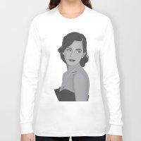 emma watson Long Sleeve T-shirts featuring Emma Watson Portrait by IgnacioCórdoba
