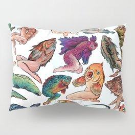 Reverse Mermaids Pillow Sham