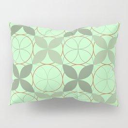 Mint Green Leaves Pillow Sham