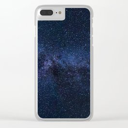 A galaxy of stars in the night sky Clear iPhone Case