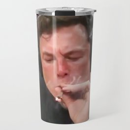 Elon Musk Smoking Weed Travel Mug