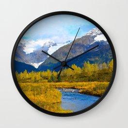 Autumn in Portage Valley - Alaska Wall Clock
