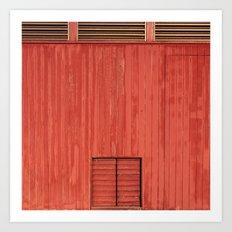 Red Wall Art Print