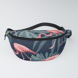 Summer Flamingo Jungle Night Vibes #1 #tropical #decor #art #society6 Fanny Pack