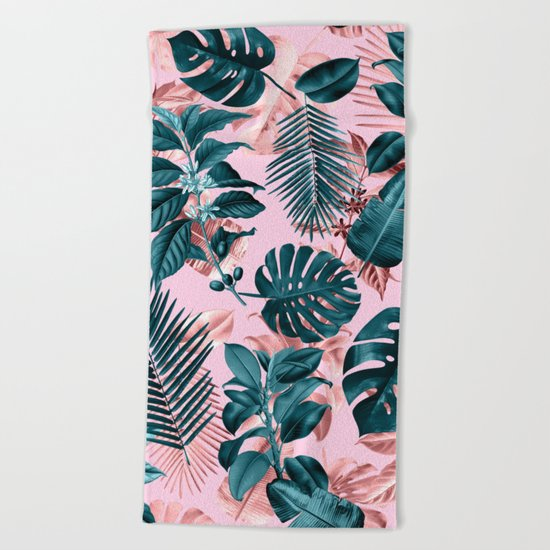 Tropical Garden III Beach Towel