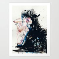 fear Art Prints featuring Fear by Holly Sharpe