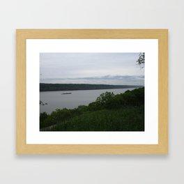 View on Hudson River Framed Art Print