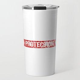 Little Sister Protection Squad Big Bro Distressed Travel Mug